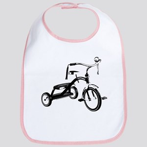 Retro Black Tricycle Bib