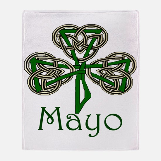 Mayo Shamrock Throw Blanket