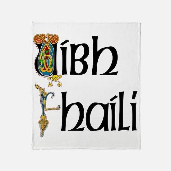 Offaly (Gaelic) Throw Blanket