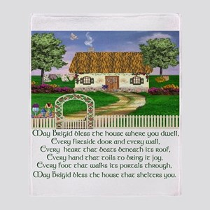 Traditional House Blessing Throw Blanket