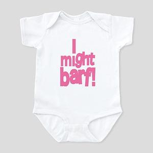 I might barf pink Infant Creeper
