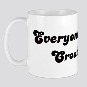 Loves Croatia Girl Mug