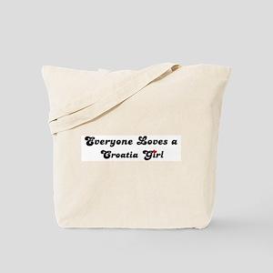Loves Croatia Girl Tote Bag