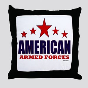 American Armed Forces Throw Pillow
