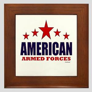 American Armed Forces Framed Tile