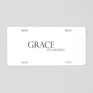 Black Grace It's Amazing Aluminum License Plate
