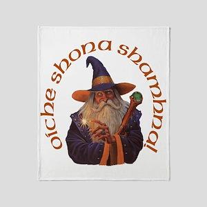 Gaelic Greetings Wizard Throw Blanket