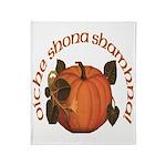 Gaelic Harvest Pumpkin Throw Blanket