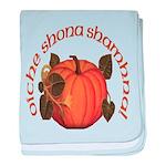 Gaelic Harvest Pumpkin baby blanket