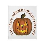 Gaelic Carved Pumpkin Throw Blanket