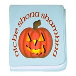 Gaelic Carved Pumpkin baby blanket