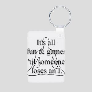 It's all fun & games... Aluminum Photo Keychain