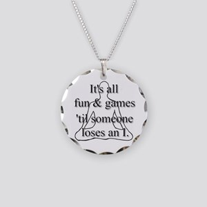 It's all fun & games... Necklace Circle Charm