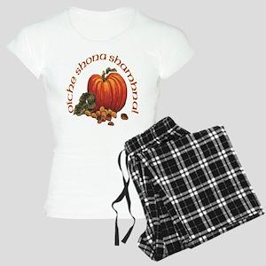 Gaelic Pumpkin Scene Women's Light Pajamas