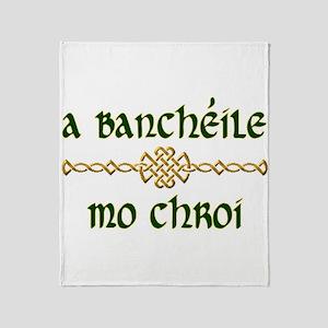 My Darling Wife (Gaelic) Throw Blanket