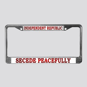 Independent Republic License Plate Frame