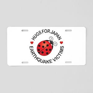 Japan Lucky Bug & Hugs Aluminum License Plate