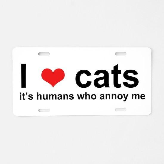 Cute Cats Aluminum License Plate