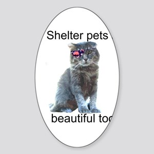 Shelter Pets Sticker (Oval)