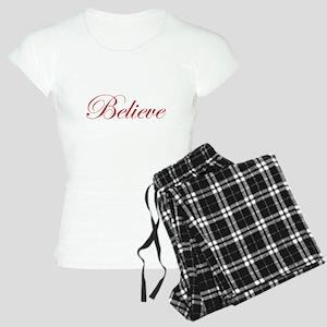 Red Believe Women's Light Pajamas