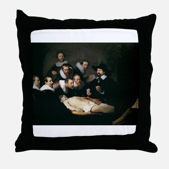 Anatomy Lecture of Dr Nicolae Throw Pillow