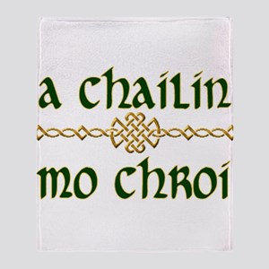 My Darling Girl (Gaelic) Throw Blanket