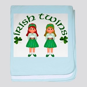 Irish Twins 2 baby blanket