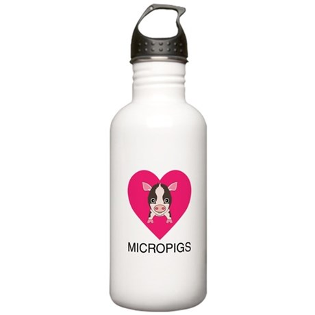 Love Micropigs Stainless Water Bottle 1.0L