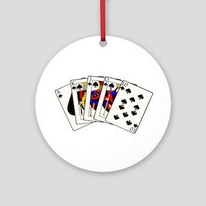 Spades Royal Flush Ornament (Round)