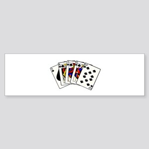 Spades Royal Flush Sticker (Bumper)