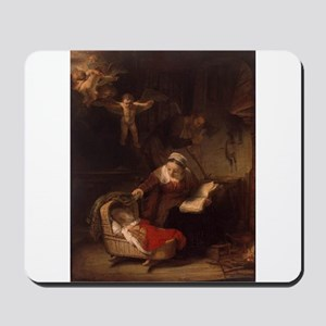 Holy Family with Angels Mousepad