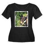 Mule Women's Plus Size Scoop Neck Dark T-Shirt