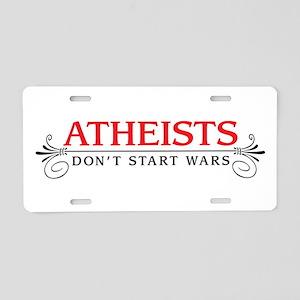Atheists Aluminum License Plate