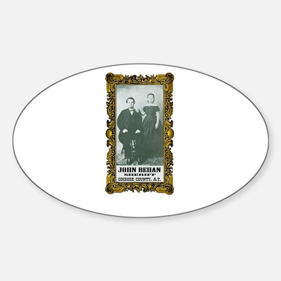 John Behan Sheriff Sticker (Oval)