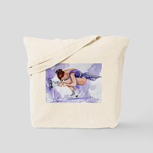 Purple Haze Figure Skater Tote Bag