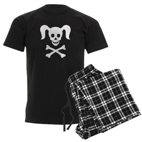 Curly Girlie Skull Men's Dark Pajamas