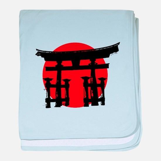 Japan Relief - Shinto Shrine baby blanket