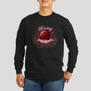 Bowling Mom (Red) Long Sleeve Dark T-Shirt