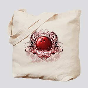 Bowling Mom (Red) Tote Bag