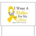 COPD Ribbon Hero Yard Sign