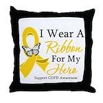 COPD Ribbon Hero Throw Pillow