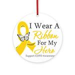 COPD Ribbon Hero Ornament (Round)