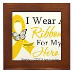 COPD Ribbon Hero Framed Tile