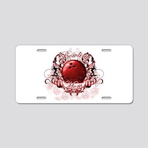 Bowling Mom (Red) Aluminum License Plate