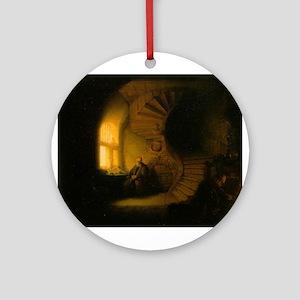 Philosopher in Meditation Ornament (Round)