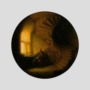 "Philosopher in Meditation 3.5"" Button"