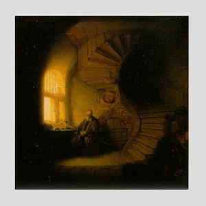 Philosopher in Meditation Tile Coaster
