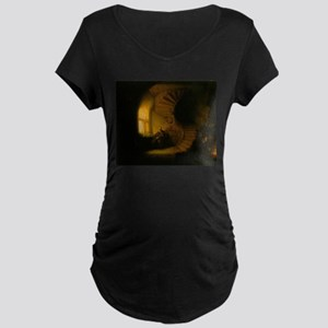 Philosopher in Meditation Maternity Dark T-Shirt