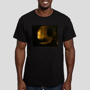 Philosopher in Meditation Men's Fitted T-Shirt (da