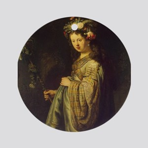 Saskia as Flora Ornament (Round)